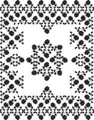 """Obraz abstrakcyjny, stylizowany ornament etniczny """"ukraiński haft"""", gobelin - 165978381"""