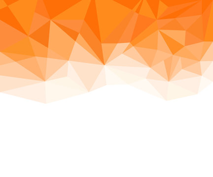 Geometric Orange and White Abstract Vector Background for Use in Design.