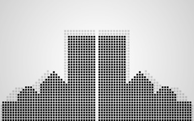Abstract city of pixeles. Vector illustration. Eps 10