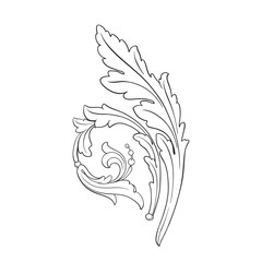 Vector isolated ornament in baroque style.