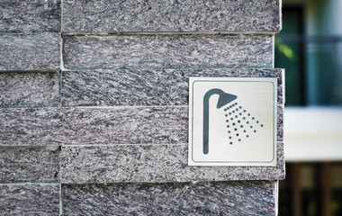 Shower sign Swimming pool icons background photo