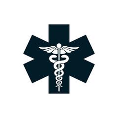 medical snake health symbol