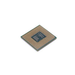 CPU (Central processing unit) microchip isolated on white background