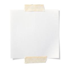 テープで止めた付箋
