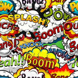 Comics speech bubbles seamless pattern. Vector illustration
