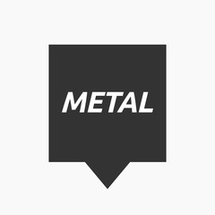 Isolated tooltip with    the text METAL
