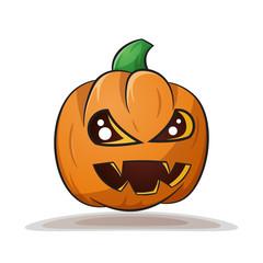 Cartoon pumpkin. Evil horror Vector eps 10
