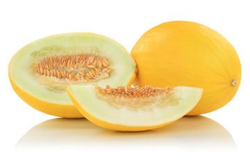 Honigmelone Honigmelonen Früchte Frucht Obst Sommer Freisteller freigestellt isoliert