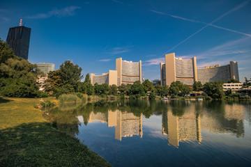 Kaiserwasser, ein kleiner See auf dem Flussarm von Alte Donau in Wien