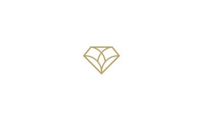 diamond, emblem symbol icon vector logo
