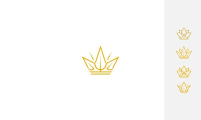 Crown, luxury, emblem symbol icon vector logo