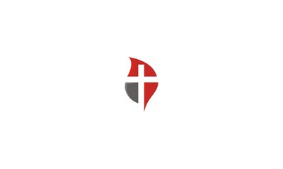 Cross, church, christian, catholic, leaf, emblem symbol icon vector logo