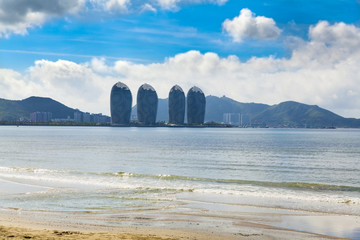 city  cityscape landscape sea Sanya