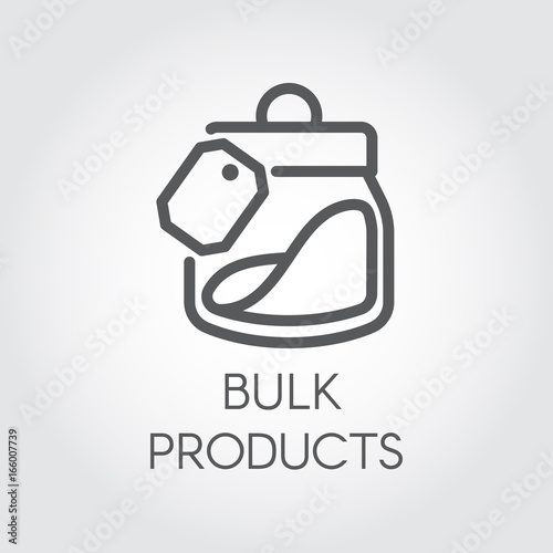 Bulk products icon. Cookery concept. Simple logo or button drawing ...