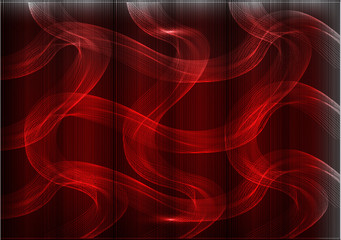Many fine lines on a red background
