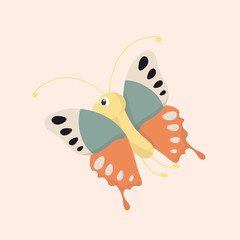 Cartoon Butterfly Character.