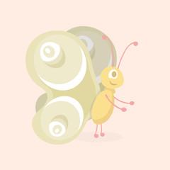 Cartoon Butterfly Character.