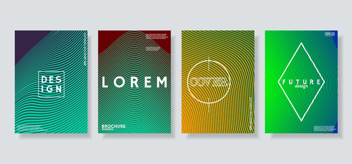 Covers design with geometric halftone pattern.