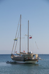 Boat in Bodrum bay, Turkey