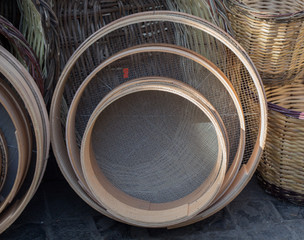 Traditional type wooden sieve