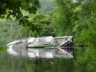 Scotland sunken boat