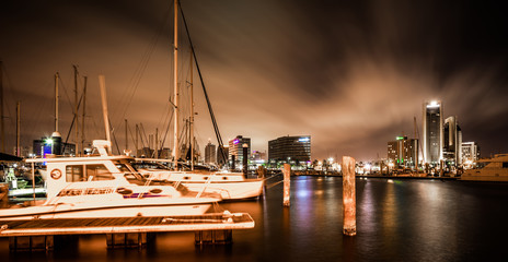 Night scenes around corpus christi texas