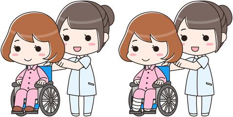 車椅子 骨折 事故 入院 介護士 看護師 病院 保険