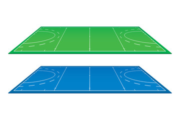 Hockey field. Vector illustration