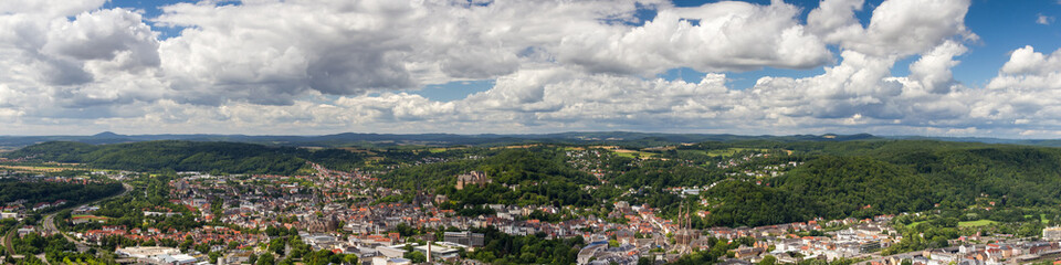 Panorama of the city of Marburg
