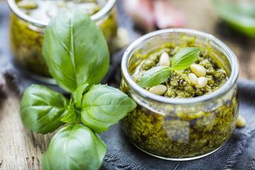 Door stickers Condiments Frische sebstgemachte Pesto