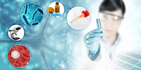 scientific research concept background