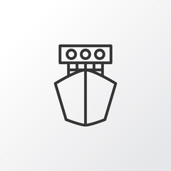 Yacht Icon Symbol. Premium Quality Isolated Ship Element In Trendy Style.