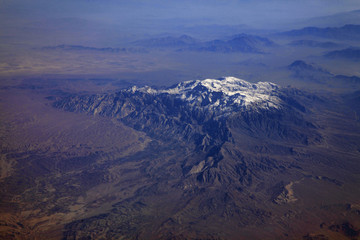 Mountains of afghanistan view from the airplane