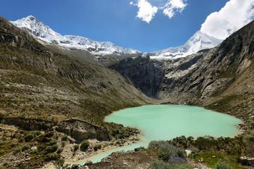 Artesoncocha lake and Artesonraju peak (6025m)