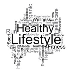 Healthy Lifestyle word cloud