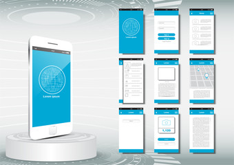 UI, UX, GUI for mobile application template