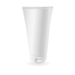 White tube mock-up or ge . Ready For Your Design. Product Packing. Vector EPS10.