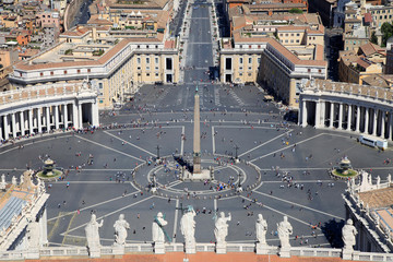 Piazza San Pietro (Saint Peter square) in Vatican City, Rome, Italy