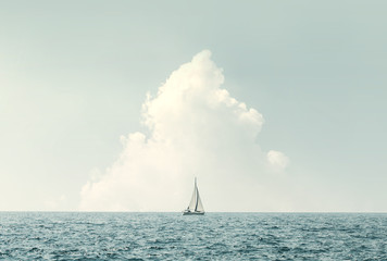 sailing in the sea