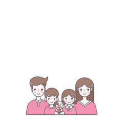 Family Character Vector Illustration