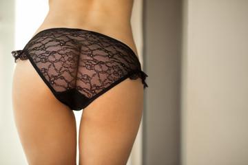 beautiful female buttocks in panties