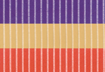 set of colored polyester fabric with strips, texture background