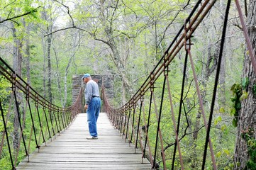 Swinging Bridge at Tishomingo State Park