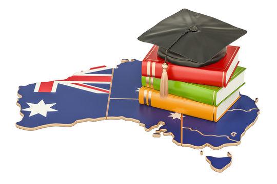 Education in Australia concept, 3D rendering
