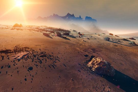 Planet Mars landscape