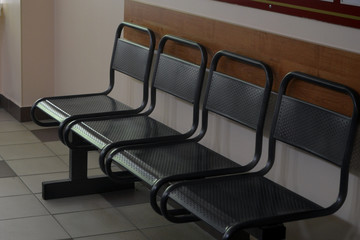 Chairs for waiting line at the clinic