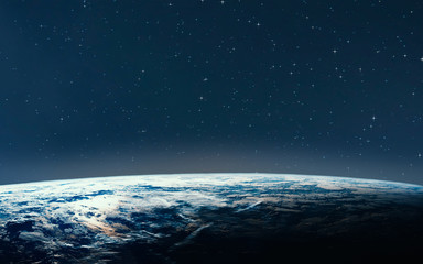 Planet earth from the space at night. Some elements of this image are furnished by NASA.