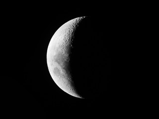 Crescent Moon / First Quarter Moon or Final Quarter Moon