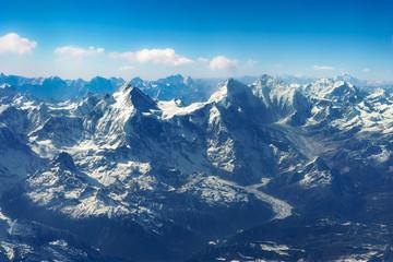 ヒマラヤ山脈 マナスル 空撮