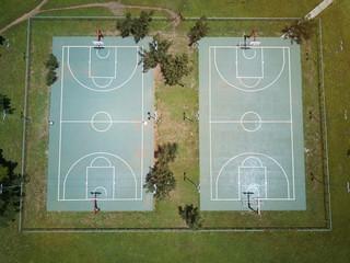 Foto op Plexiglas Stadion Empty basketball field